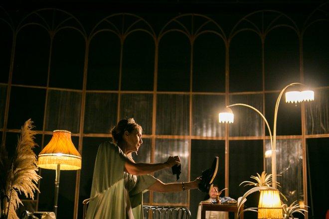 Μια εικόνα απο την παράσταση Ξαφνικά πέρσι το καλοκαίρι.