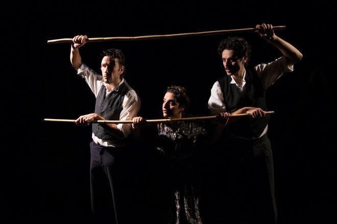 Μια εικόνα απο την παράσταση ΑΓΓΕΛΙΚΗ.