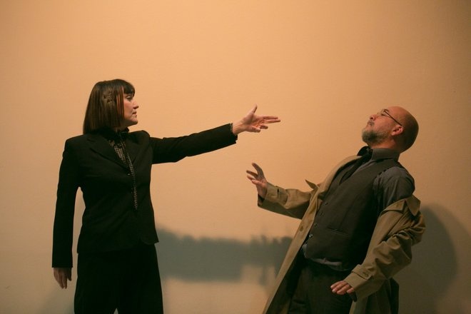 Μια εικόνα απο την παράσταση Απόσταση αναπνοής .