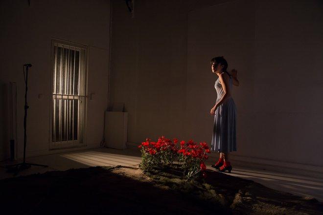 Μια εικόνα απο την παράσταση Το κορίτσι του λύκου.