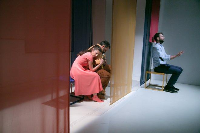 Μια εικόνα απο την παράσταση Μόλλυ Σουήνη.