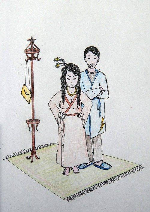 Μια εικόνα απο την παράσταση ΟΔΟΣ ΟΛΥΜΠΟΥ 12.