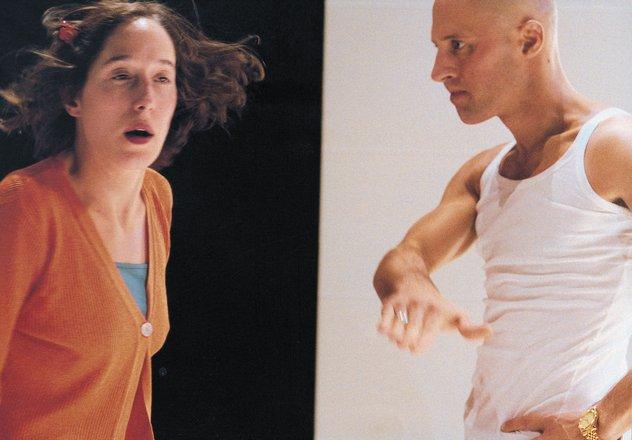 Μια εικόνα απο την παράσταση Οι σεξουαλικές νευρώσεις των γονιών μας.