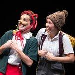 Μια εικόνα απο την παράσταση Πινόκιο - Θέατρο αλληλεγγύης για παιδιά.