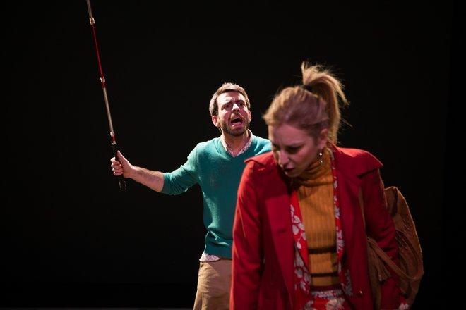 Μια εικόνα απο την παράσταση Τα μάτια.