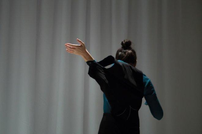 Μια εικόνα απο την παράσταση Χοηφόροι.